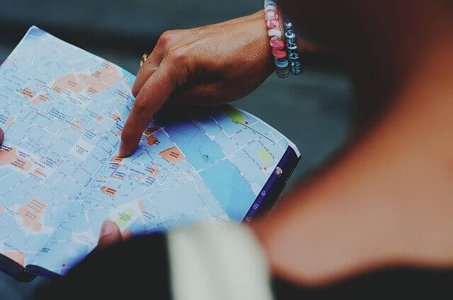 planning holiday map