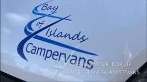 Fresh water campervan motorhome
